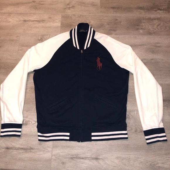 super popular 201d5 3d2ce Polo Ralph Lauren Varsity Full Zip Jacket Big Pony